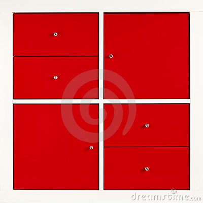 Red square cabinet