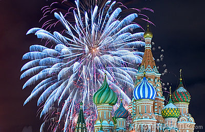Red square firework