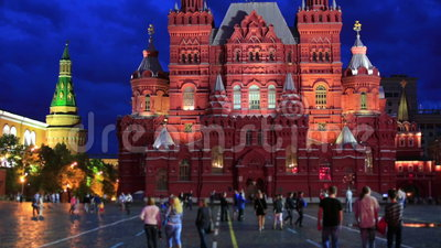 Red Square, Moscow at night. Red Square at night, moscow, russia stock video
