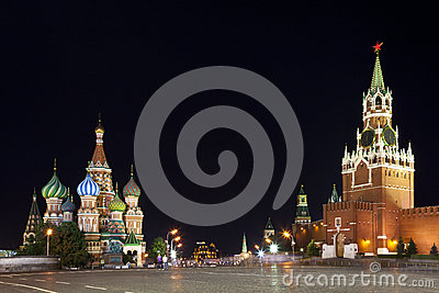 Red Square at night. Moscow, Russia.