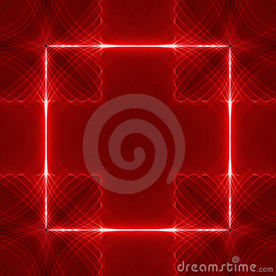 Red square wave back