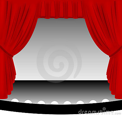 Free Red Stage Curtain Stock Photo - 574330
