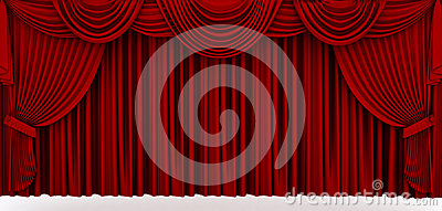 Red stage drapery