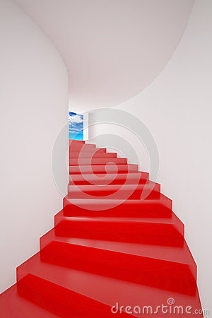 Red Stair  up to sky success
