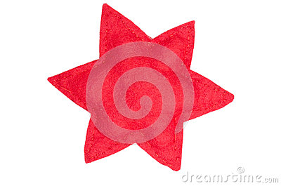Red star of cloth