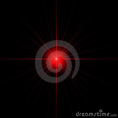 Red star isolated copy space