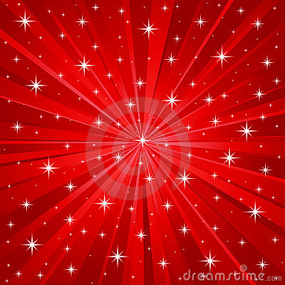 Free Red Stars Vector Background Royalty Free Stock Image - 7215306