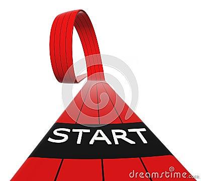 Red starting line loop