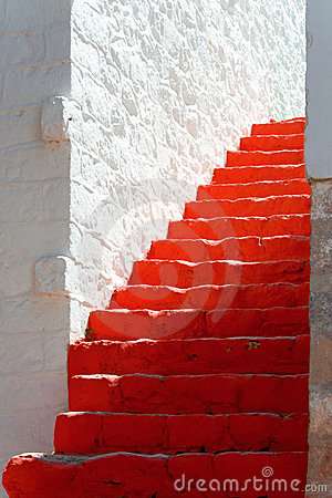 Free Red Steps Stock Image - 14125581