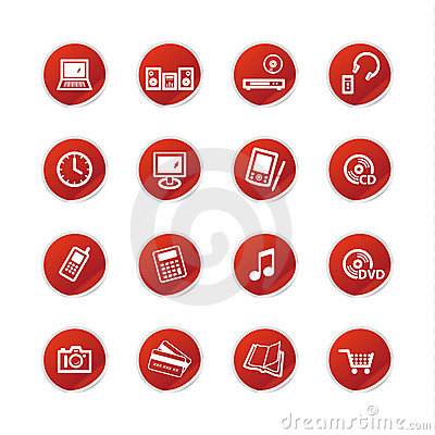 Red sticker home electronics i