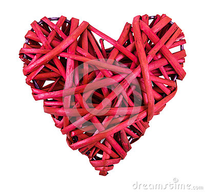 Red straw heart