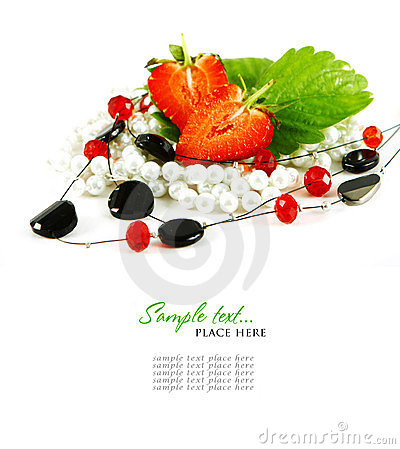 Red Strawberry Fruits With Green Leafs Isolated On Royalty Free Stock Image - Image: 24152936
