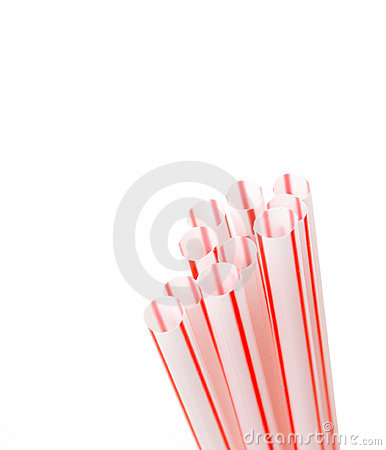 Free Red Straws Royalty Free Stock Image - 17564016