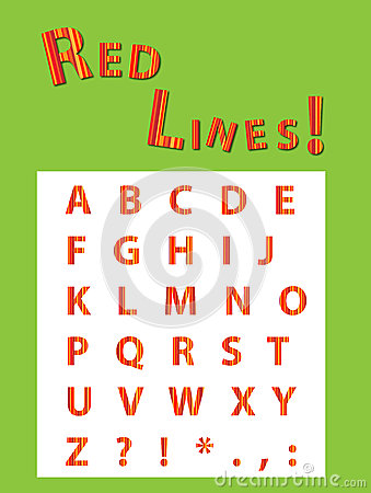 Red Stripes Font