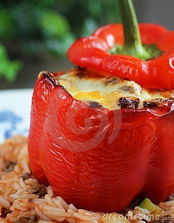 Red stuffed pepper