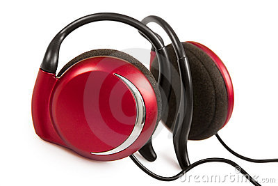 Red stylish earphone