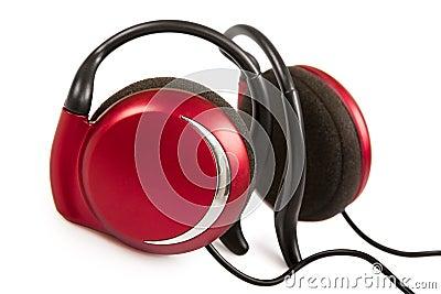 Red stylish earphone