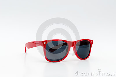 stylish sunglasses 2dms  Cool Red stylish sunglasses isolated on white background
