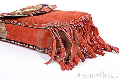 Red Suede Bag with Fringe