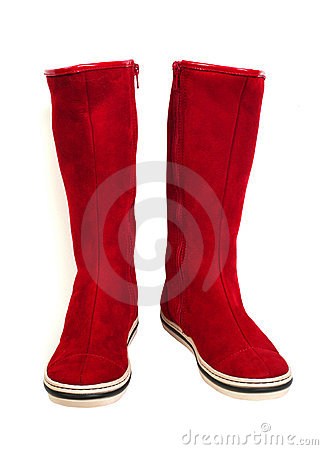Free Red Suede Boots Stock Photos - 11661343