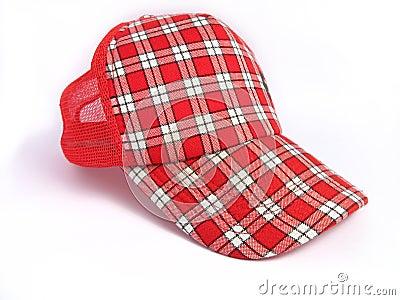 Red Summer Plaid Cap