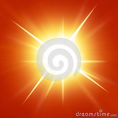 Red summer sun