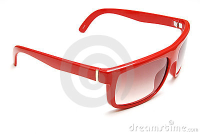 Red sun glasses