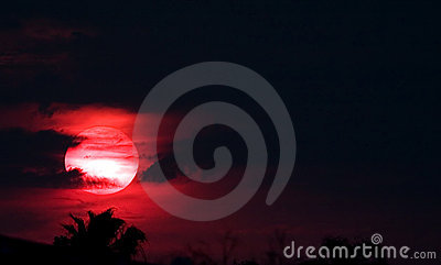 Red Sun at Night
