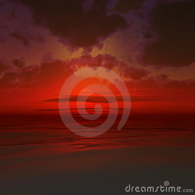 Free Red Sunset Stock Photography - 20036172