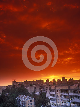 Red sunset.