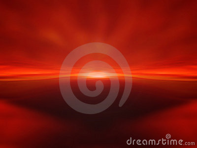Red sunset background