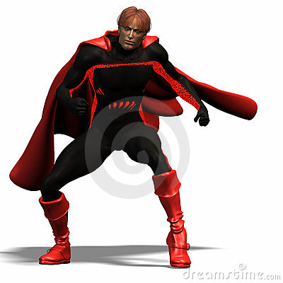 Red super hero #3