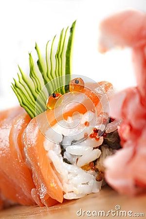 Free Red Sushi  Dragon Stock Photo - 16756560
