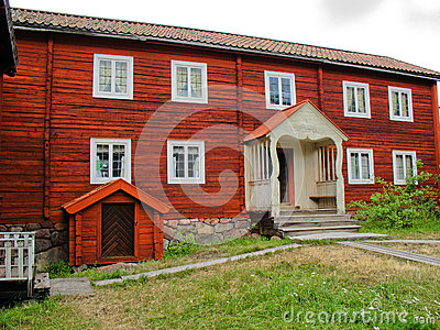 Red swedish cabin