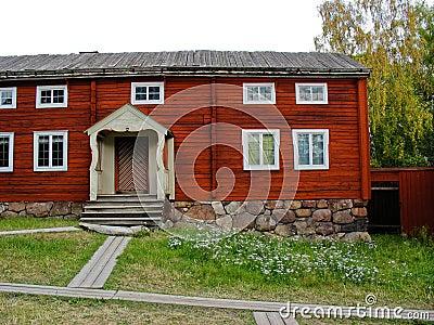 Red swedish cabin