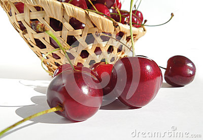 Red sweet cherries.