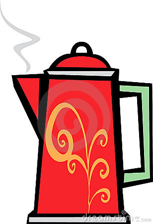 Red Swirl Coffee Pot