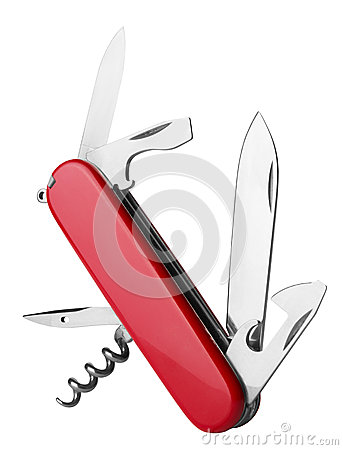 Free Red Swiss Army Knife Stock Photography - 27649102
