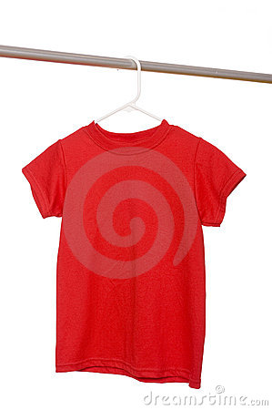 Red T-Shirt on Hanger