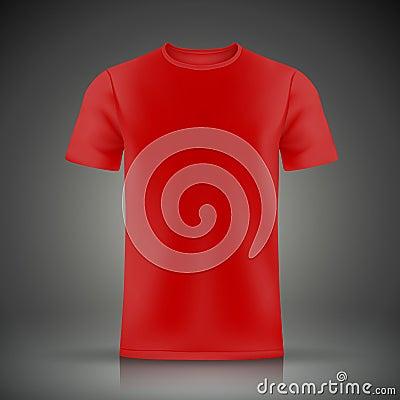 red t shirt template stock vector image 46751049. Black Bedroom Furniture Sets. Home Design Ideas