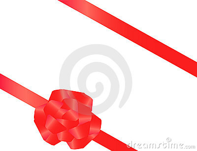 Red tape with a bow