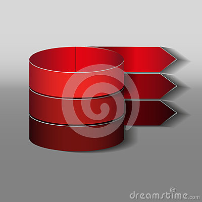 Red tapes Vector Illustration