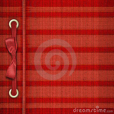 Red tartan cover for album