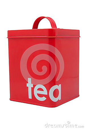 Red Tea Container