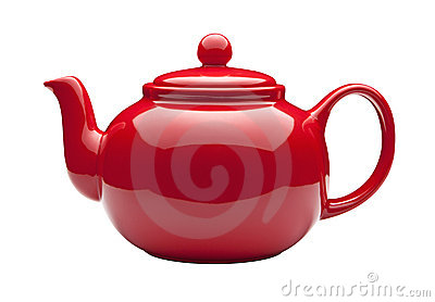 Red Teapot with clipping path