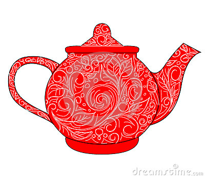 Red Teapot Stock Photography - Image: 30331682