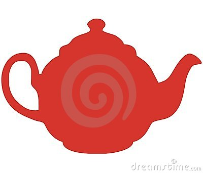 Red teapot vector illustration