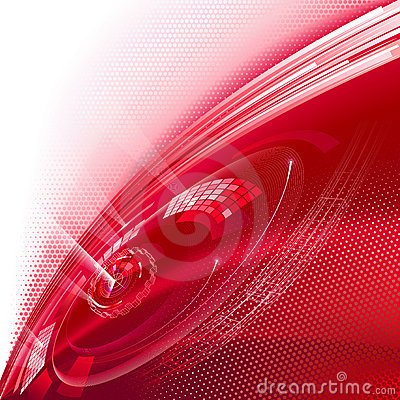 Red technology background.