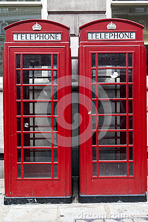Red Telephone Booths in London England