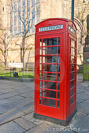 Red Telephone Box Editorial Photo